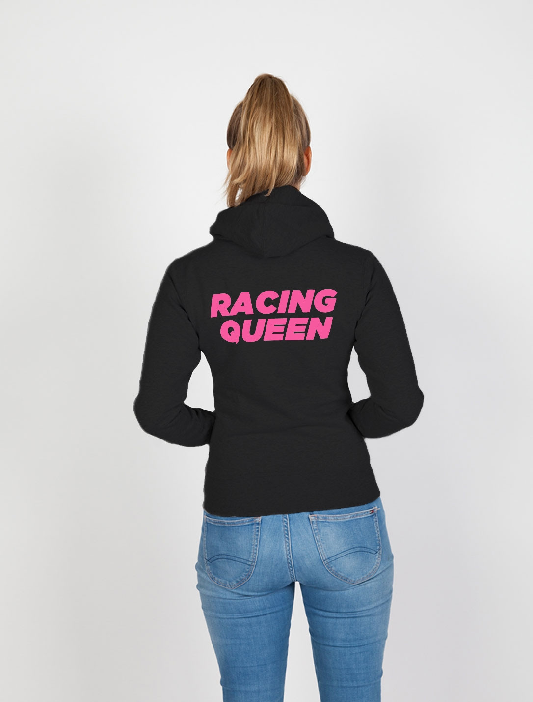 "DTM Damen Hoodie mit Rücken-Print ""RACING QUEEN"""